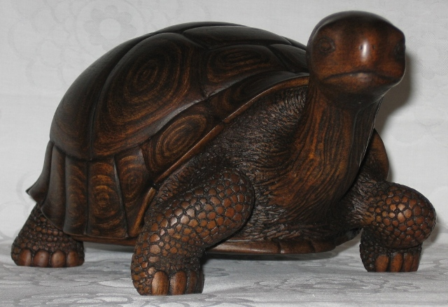 Черепаха из гипса своими руками